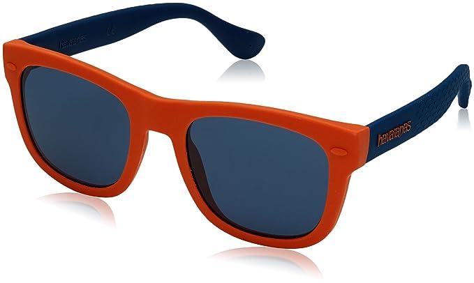 vendita ufficiale shopping acquista per il meglio Havaianas Bambino PARATY/S 9A QPS 48 Occhiali da sole, Arancione (Orange  Blue/Bl Blue)