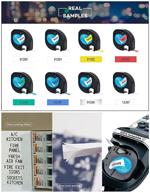 Cintas de plš¢stico compatibles con 7 rollos Dymo LetraTag LT ...