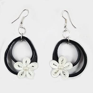 9b0b06be6 Image Unavailable. Image not available for. Color: Paper Quilling Earrings  ...