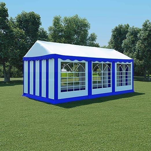 honglianghongshang Jardín Artículos de Exterior Estructuras de Exteriores Carpa de jardín de PVC 3x6 m Azul y Blanco: Amazon.es: Hogar