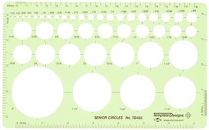 amazon com alvin senior circle guide template td435 technical
