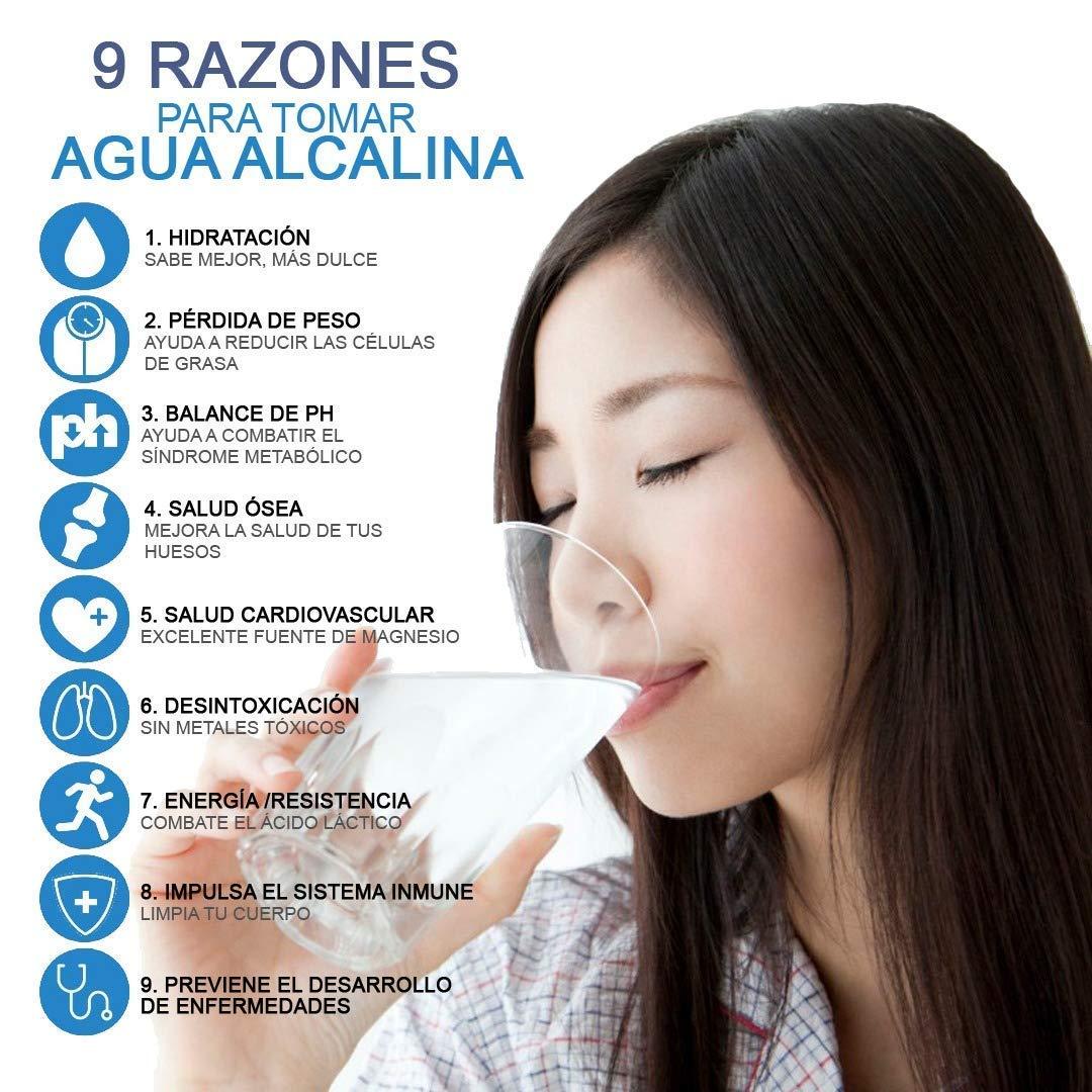 Wamery Jarra con Filtro de Agua alcalina ionizada 1.5 litro Aumenta el Nivel del ph del Agua de Grifo Incluye Filtro Gratis.: Amazon.es: Hogar