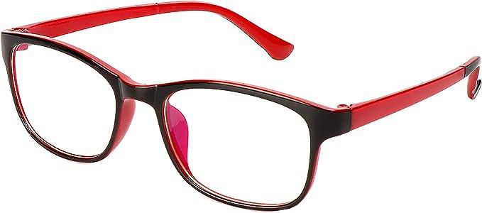 Amazon.com: 2020 Collection Glasses Anti Blue Ray Light Gaming Computer Reading TV Phones Anti-UV Radiation Glasses Men Women Blue Blocking Anti Eye Strain Headache & UV Glare (Red): Computers & Accessories