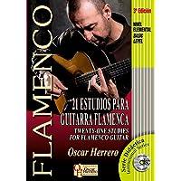 21 ESTUDIOS PARA GUITARRA FLAMENCA (Nivel Elemental) (Libro