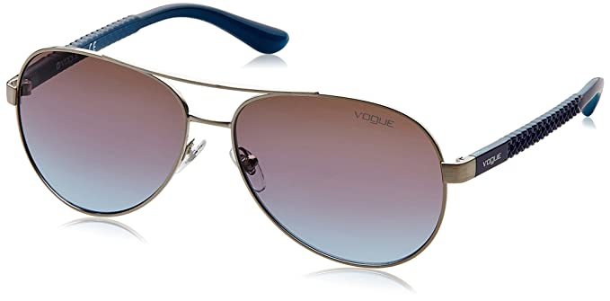 Vogue 0Vo3997S Gafas de sol, Brushed Silver, 58 para Mujer