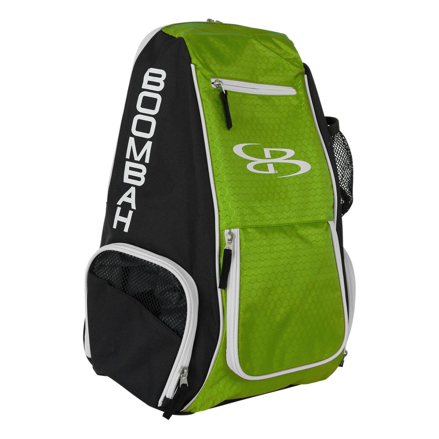 Boombahスパイクバレーボールバックパック – 10カラーオプション – Holdsボール、靴、水ボトルand More B01MXRSMZ4 ブラック/ライムグリーン ブラック/ライムグリーン