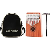17 Key Kalimba with Mahogany Portable Thumb Piano Mbira Marimba Sanza of Wooden Attached Ore Metal Tines With bag Gift idea