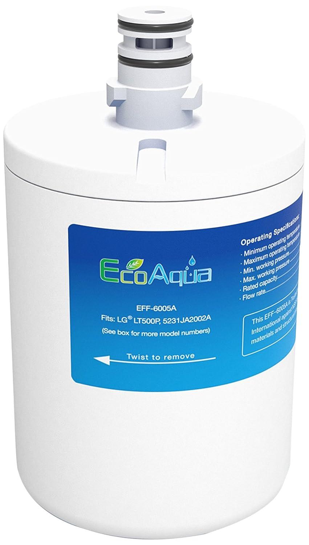1x EcoAqua EFF-6005A Compatible LG LT500P - 5231JA2002A - 5231JA2002A-S filtro GRP207NGU Nevera