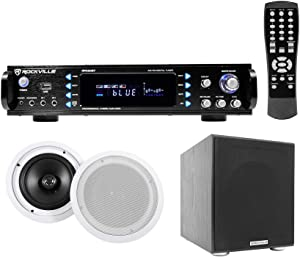 Rockville RPA60BT Home Theater Bluetooth Receiver+(2) 8