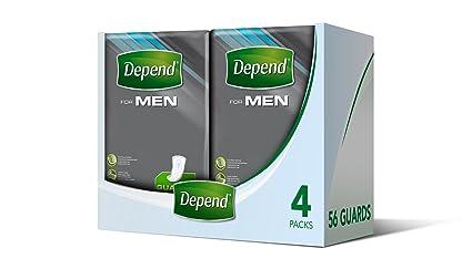 Depend Compresas para la incontinencia para hombre, máxima absorción y protección – Paquete de de