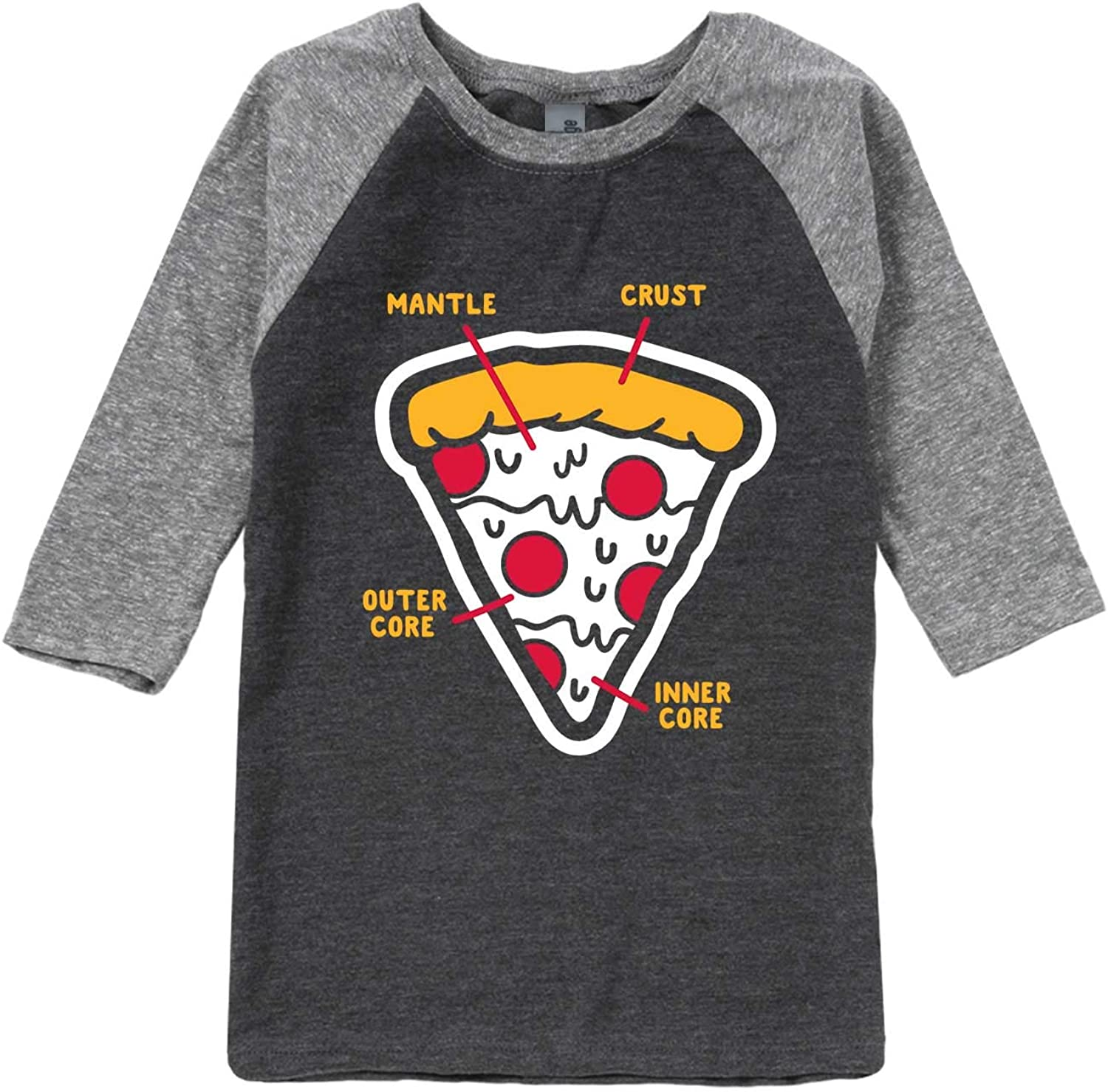 Toddler Raglan Instant Message Pizza Layers Diagram