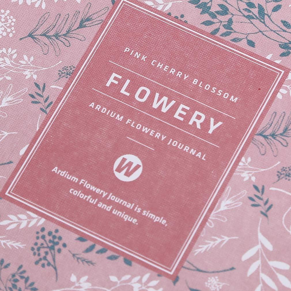 rosa SUNSKYOO blumigen Notebook PU Leder einfache Blatt Abdeckung Journal Planer Kalender Zeitplan Veranstalter Tagesbuch