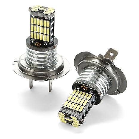 CICMOD LED 4014 45SMD H7 Faros Antiniebla Bombillas Incandescentes H7 Faro de Xenón 6000K 2 Unidades
