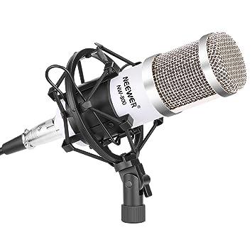 Neewer Kit Micrófono NW-800,Incluye:(1) Micrófono Condensador Estudio Profesional (1) Montura Antivibratoria (1) Cubierta de Espuma Antiviento Tipo ...