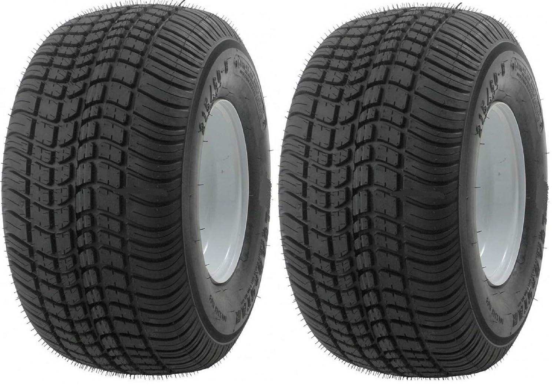 eCustomhitch 2-Pack Kenda Trailer Tire On Rim #5247 215/65-8 215-65 Load Range C 5 Bolt White
