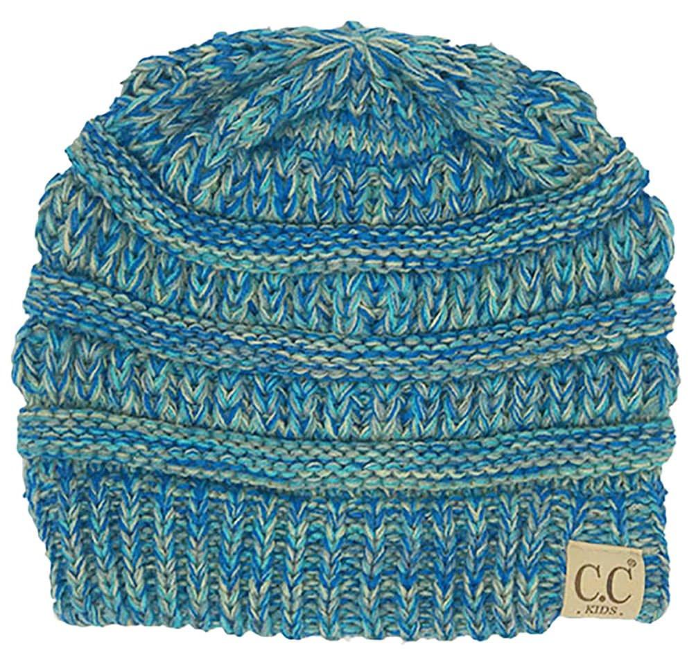 H-3847-816.11 Kids Beanie (NO POM) - Blue #15