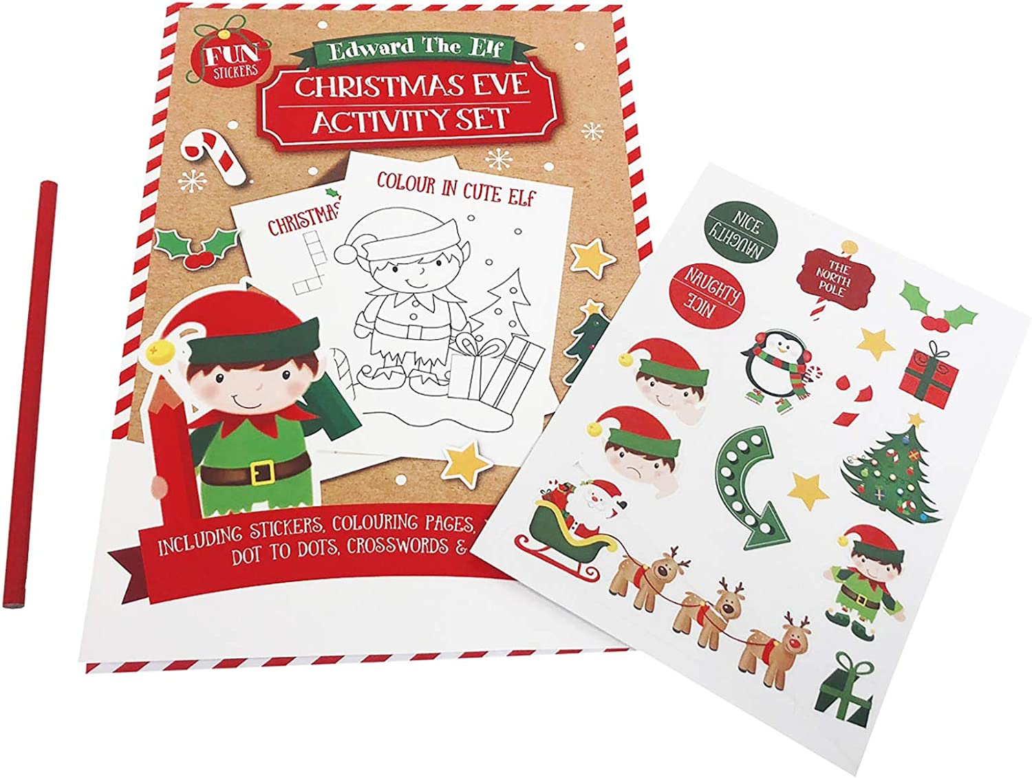 A6 Christmas Sticker Activity Book Kids Puzzle Learning Colouring Books Santa