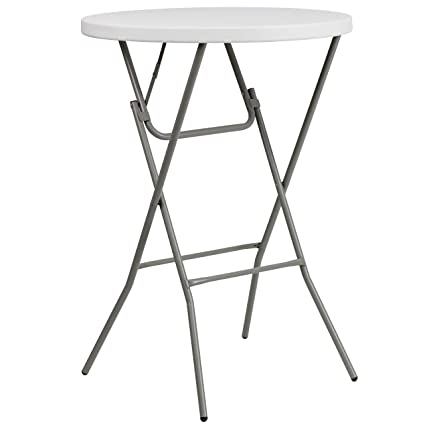 Incredible Flash Furniture 32 Round Granite White Plastic Bar Height Folding Table Cjindustries Chair Design For Home Cjindustriesco