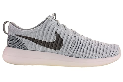 size 40 cc9d1 dda42 Nike Mens Roshe Two Flyknit Running Shoes Pure Platinum Wolf Grey White  844833-011 Size 11  Buy Online at Low Prices in India - Amazon.in