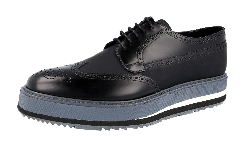 Prada Men's 2EG015 Black Full Brogue Leather Business Shoes EU 9.5 (43,5)/US 10.5