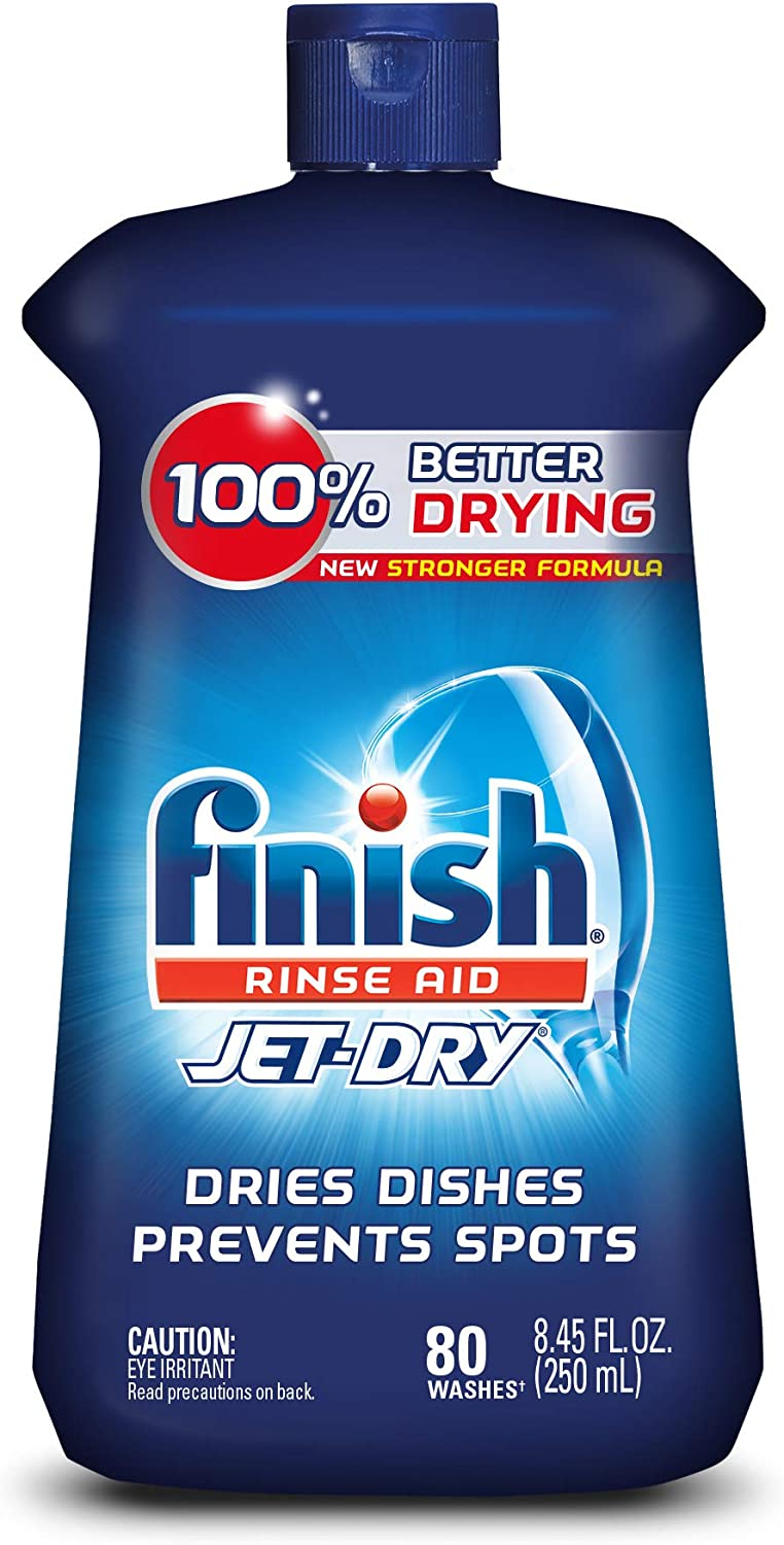 Finish Jet-Dry Rinse Aid, Dishwasher Rinse & Drying Agent, 8.45 oz (Pack of 3)
