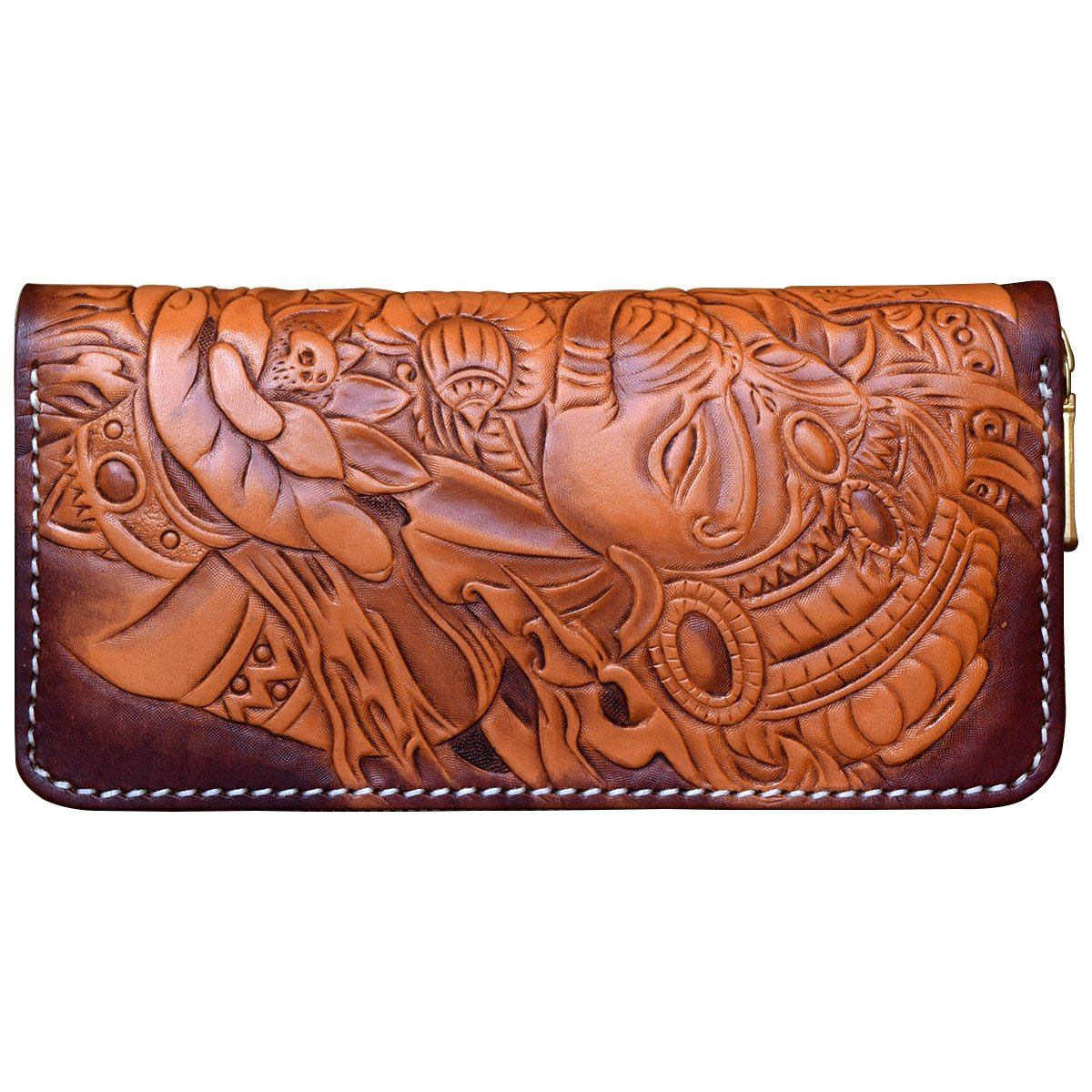 OLG.YAT Vegetable tanned leather Retro Genuine Leather Men's Wallets WLXS2 by OLG.YAT