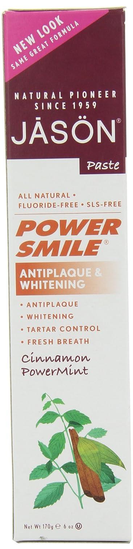 Pack of 3 x Jason PowerSmile Toothpaste Cinnamon Mint - 6 oz Jason Natural Products