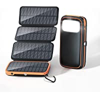 Solar Charger 30000mAh, Solar Power Bank with 3 Outputs and 4 Foldable Panels, 3A Fast Charging USB C Portable Phone…