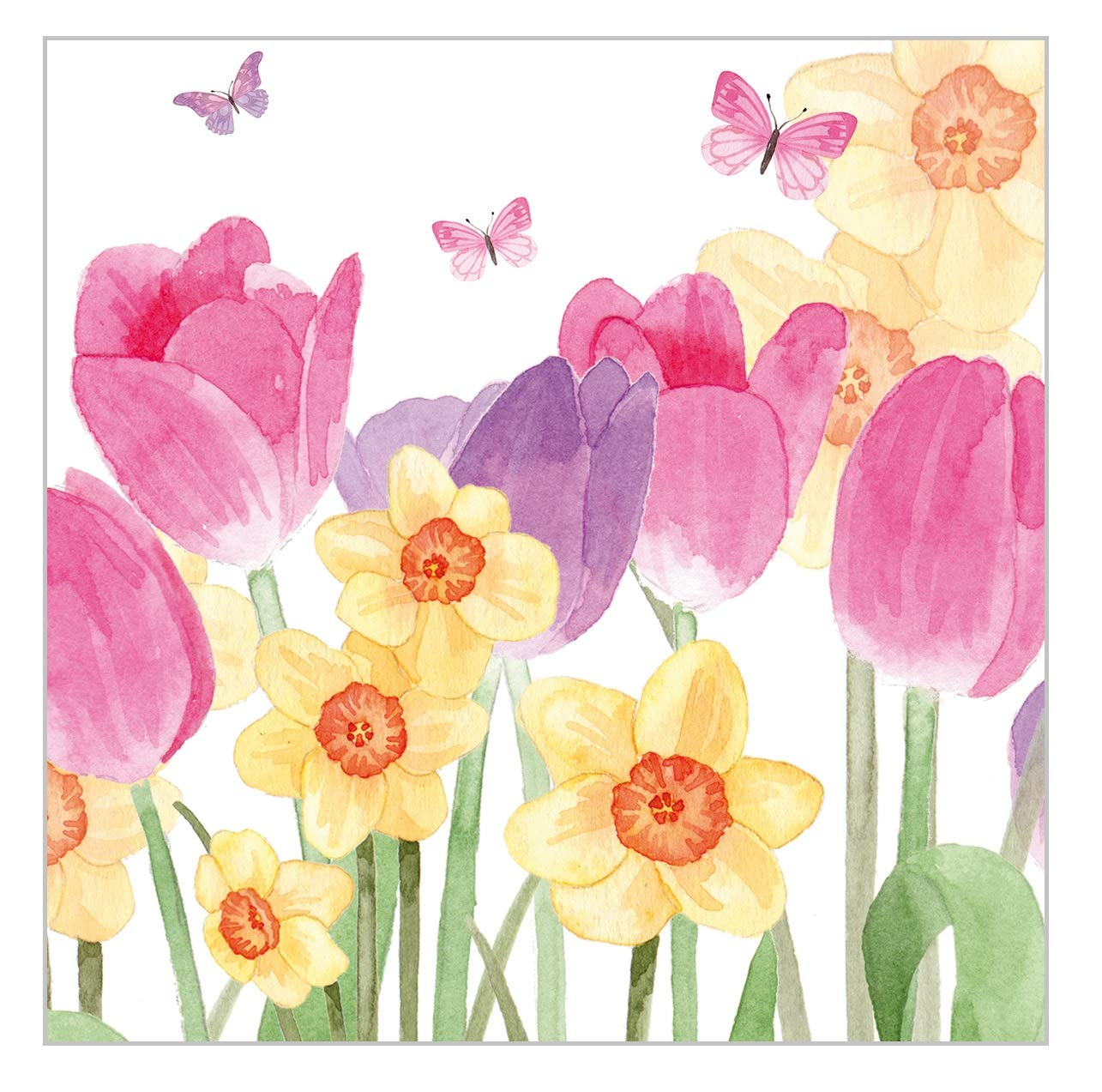 4 x Single Paper Napkin Colorful Spring Flowers Decoupage and Crafting Party 43