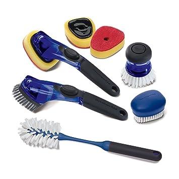 KitchenAid 7 Piece Sink Brush Set (Blue)