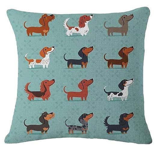Nunubee - Fundas de almohada de perros, de animales, algodón ...