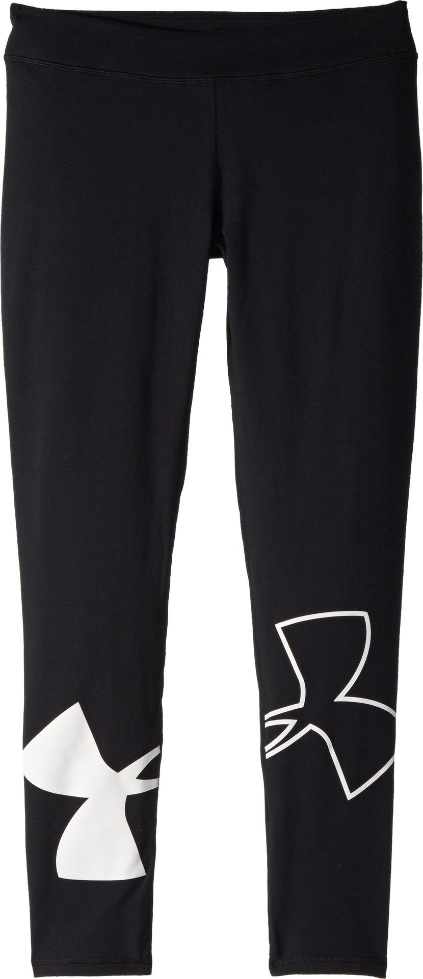 Under Armour Kids Girl's Favorite Knit Leggings (Big Kids) Black/White X-Large