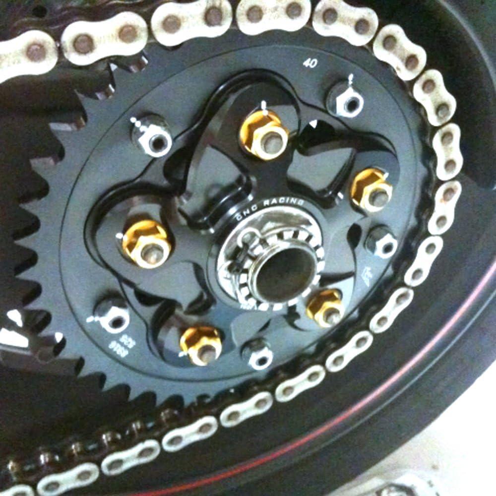 Gold CNC Racing Rear Sprocket Nuts Set For Honda CBR600RR CBR600F CBR600 F4I F3 CBR1000RR VFR800 CB900F 2016 2019 2018 2017