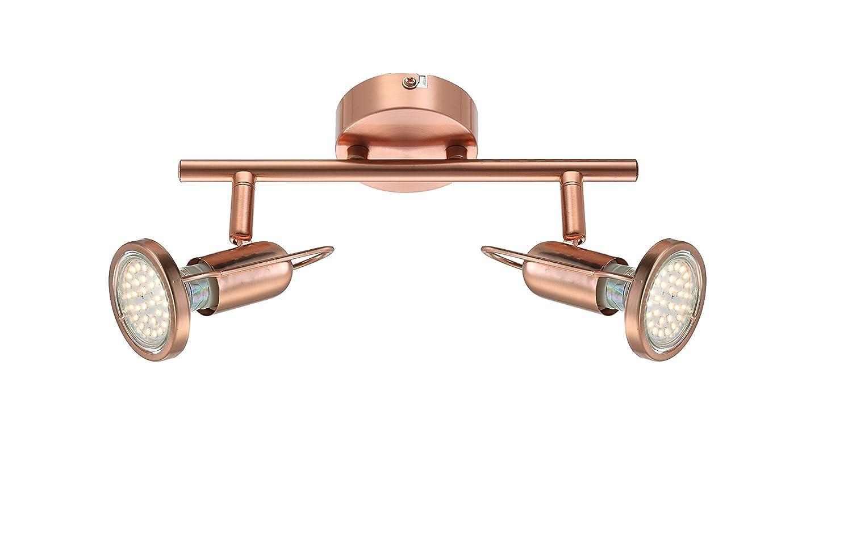 GLOBO 54383-2 Anne Spotlight, Metal, Copper [Energy Class A+]
