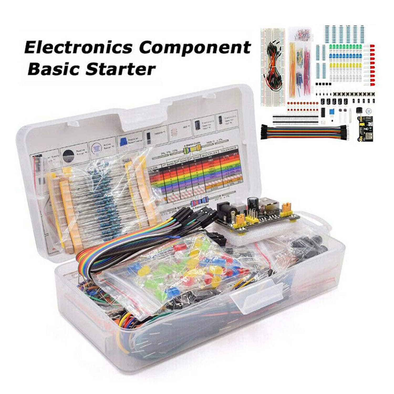 Diodes LED Potentiometer Capacitors 830pcs Transistors Inductors F Fityle Electronic Component Assortment Resistors