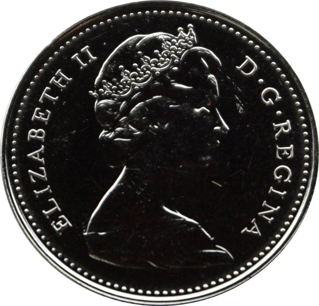 Uncirculated Canadian Coin 5 Cent, 1980