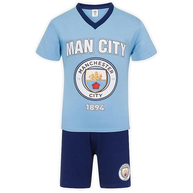 Manchester City FC - Pijama corto para niño - Producto oficial - 10-11 años