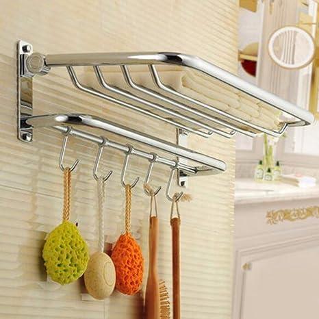 Sursy Cobre antiguo de toallas, toallas de baño plegable, cuarto de baño, soporte para el cuarto de baño, cuarto de baño,un colgante de hardware: Amazon.es: ...