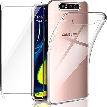 Leathlux Funda Samsung Galaxy A80 / A90 + 2 x Protector de ...