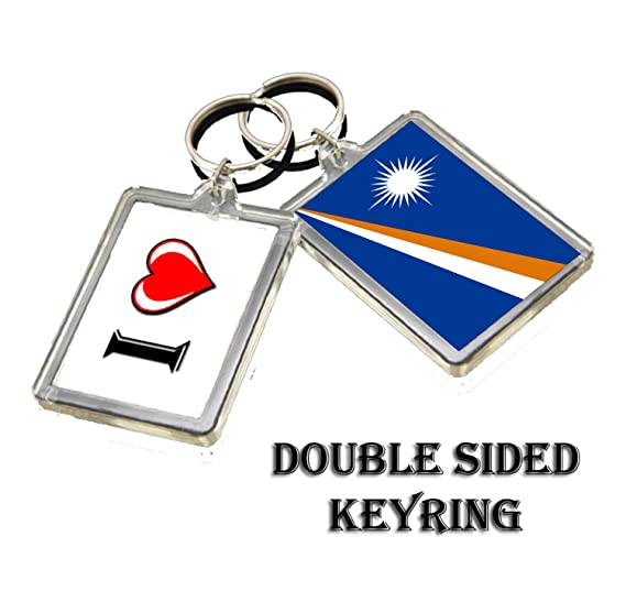 CALENDARSFORLOVE I HEART MARSHALL ISLANDS FLAG KEYRING ...