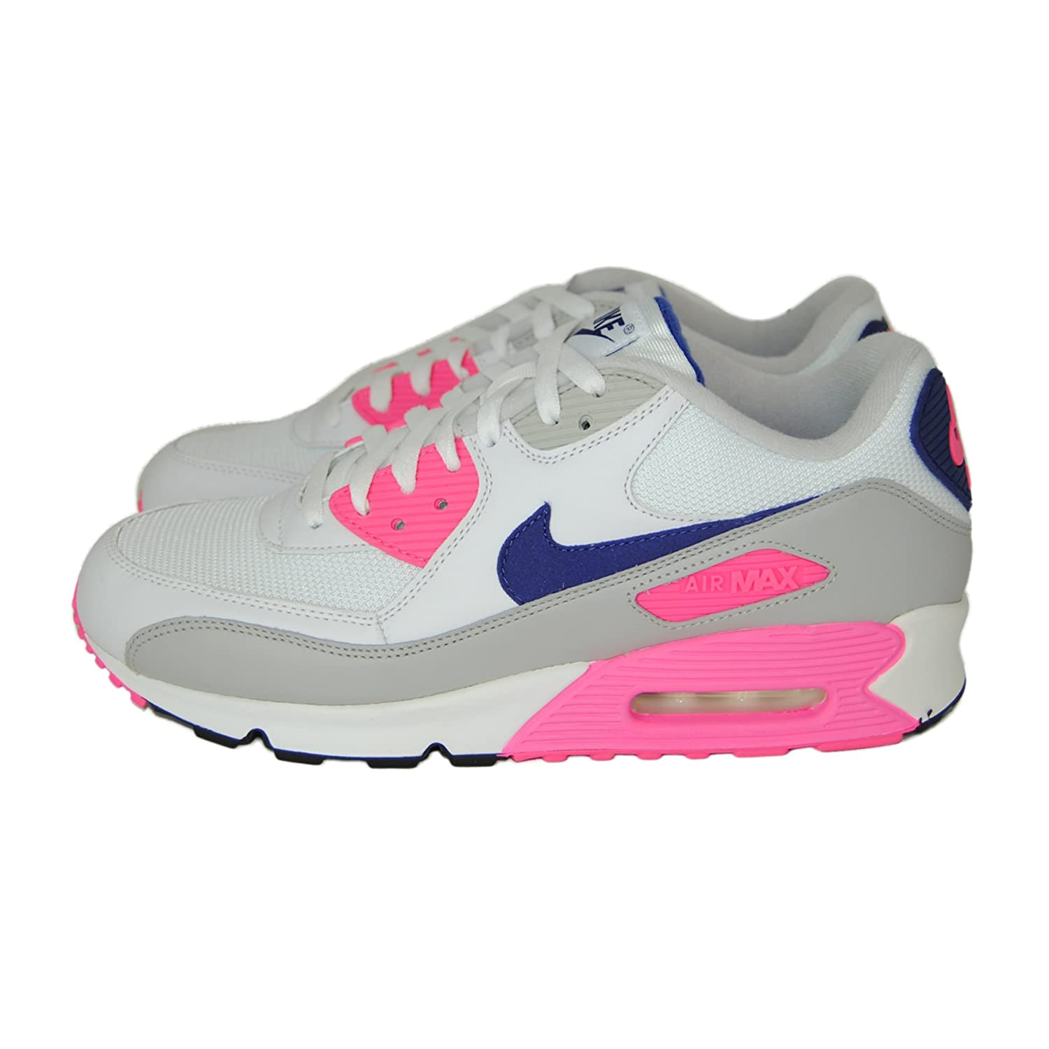 1e688bc2aa NIKE Air Max 90 Trainers White Concord Laser Pink Size 9 UK: Amazon.co.uk:  Shoes & Bags