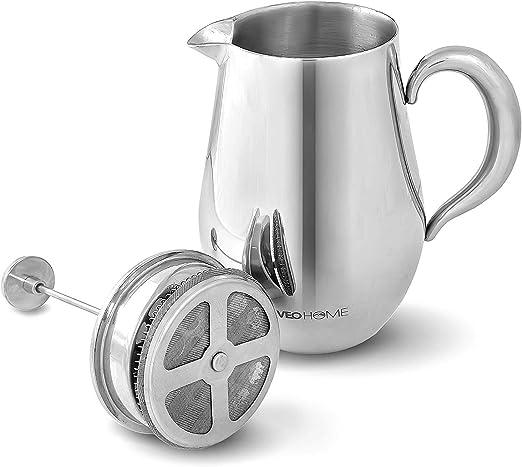 Amazon.com: Cafetera francesa VeoHome – Jarra irrompible y ...