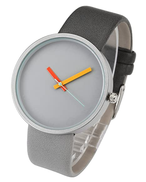 ee82c565b Top Plaza Men's Womens Fashion Casual Analog Quartz Wrist Watch Mixed Color  Leather Strap Simple Dress