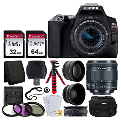 Canon EOS Rebel SL3 Cámara réflex digital (Negro) + EF-S 18-55 mm f/4-