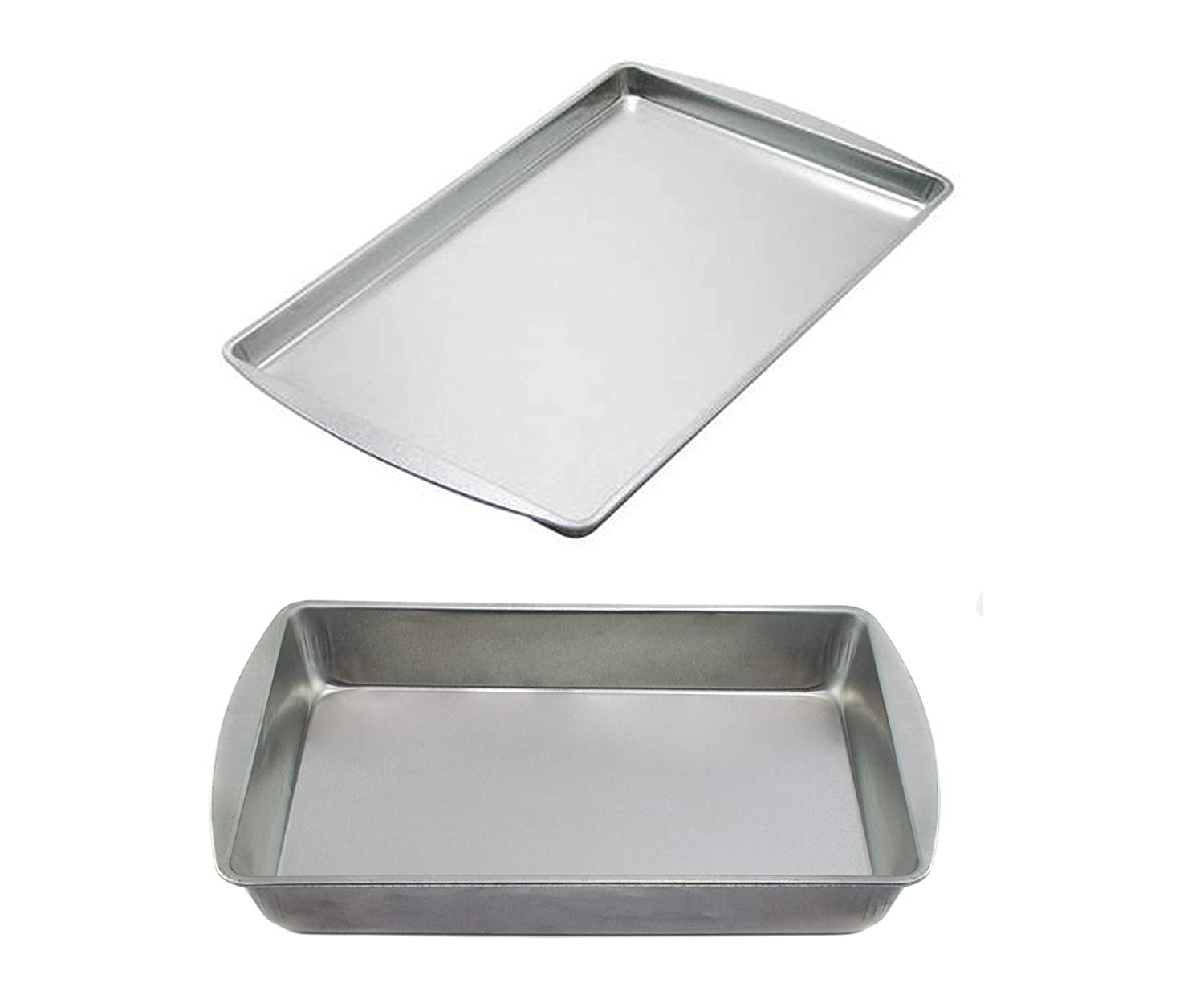Mainstays Covered Cake and Utility Pan bundle with Mainstays Small Non-Stick Cookie PanMainstays Covered Cake and Utility Pan bundle with Mainstays Small Non-Stick Cookie Pan