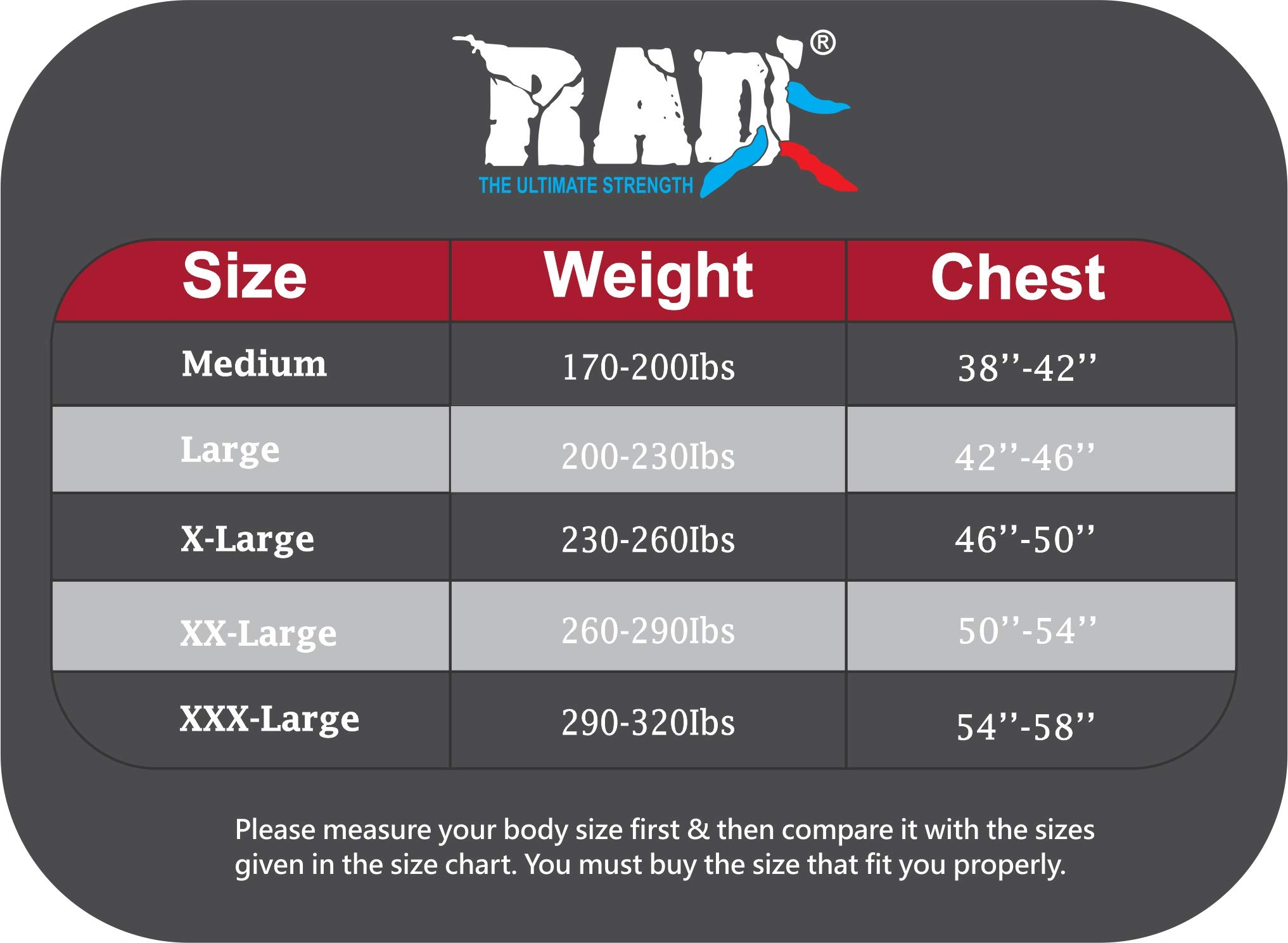 RAD Ultimate Strength Heavy Duty Sauna Sweat Suit Gym Boxing MMA Weight Loss Slimming Shorts (Black, Large)