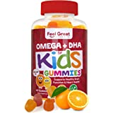 Feel Great Vitamin Co. Complete DHA Gummies for Kids | with Omega 3 6 9 + DHA, Vitamin C | Supports Healthy Brain Function, V