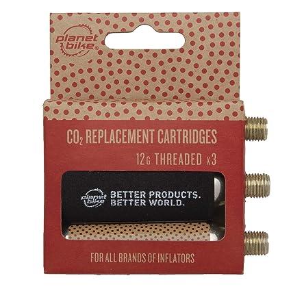 3-Pack Planet Bike 12g Threaded CO2 Cartridges