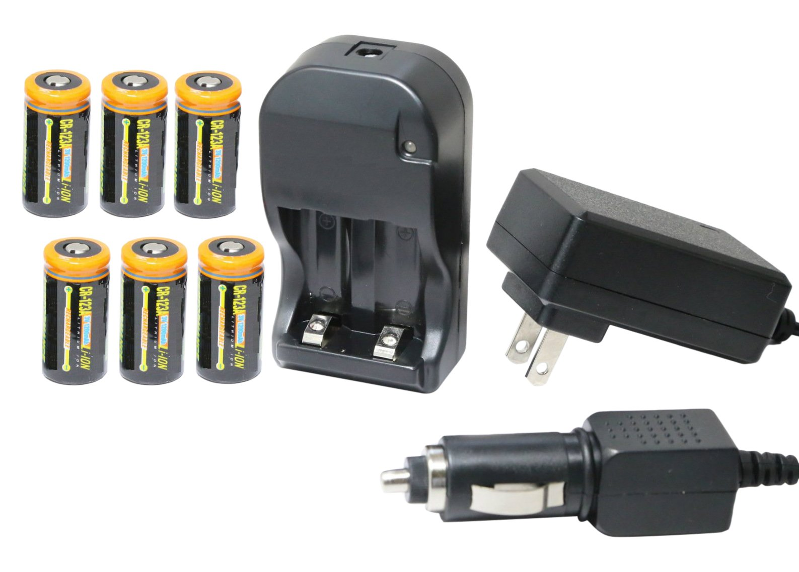 Ultimate Arms Gear UAG-30940 Tactical CR123A 3V 1200 mAh Lithium Li-Ion Rechargeable Batteries, 6 Piece