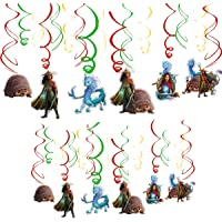 30 pcs Raya and The Last Dragon Party Swirl Decorations, Raya and The Last Dragon Theme Hanging Swirl Ceiling Decoration…